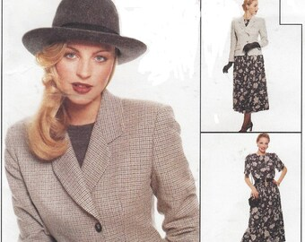 90s Womens Lined Jacket, Top, Cuffed Pants & Skirt McCalls Sewing Pattern 7954 Size 16 Bust 38 UnCut Sewing Patterns