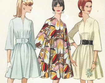 1960s Womens Mod Tent Dress Bell Sleeves McCalls Sewing Pattern 9314 Size 12 Bust 34 UnCut Vintage Sewing Patterns
