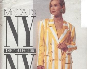 90s NY NY Womens Boxy Jacket, Skirt & Shorts or Pants McCalls Sewing Pattern 6865 Size 12 Bust 34 UnCut Sewing Patterns