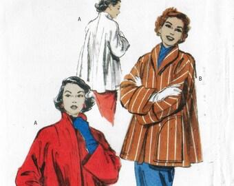 1950s Womens Swing Jacket Funnel Collar Kimono Sleeves OOP Butterick Sewing Pattern B4928 Size 16 18 20 22 Bust 38 40 42 44 FF