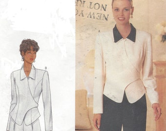 90s DW3 Womens Wrap Top or Jacket & Pants Butterick Sewing Pattern 4730 Size 14 16 18 Bust 36 38 40 UnCut Sewing Patterns