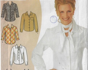 Karen Z Womens Dart Fitted Blouse with Cup Size Adjustments & Variations Simplicity Sewing Pattern 9816 Size 12 14 16 18 20 22 FF