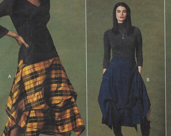 Sandra Betzina Womens Lagenlook Skirt with Pickups and Uneven Hem Vogue Sewing Pattern V1639 Size 10 12 14 16 18 20 22 24 26 28 FF