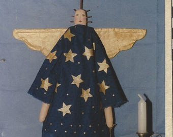 Sometimes Celestial 20 inch Primitive Angel Doll Pattern by Country Harvest UnCut Primitive Doll Patterns Rag Dolls
