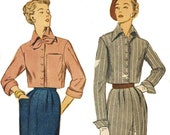 1940s Simplicity Sewing Pattern 3087 Womens Bolero Suit Cropped Jacket and Skirt Size 12 Bust 30 Vintage Sewing Pattern