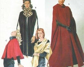 90s Simplicity Sewing Pattern 7438 Womens Capes & Wrap Size 6 8 10 12 14 16 Bust 30 1/2 to 38 Steampunk Cape Opera Cape Full Length Cape
