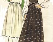 1970s Vogue Sewing Pattern 8117 Womens Boho Jumper, Palazzo Pant Jumper & Cowl Neck Blouse Size 14 Bust 36 UnCut
