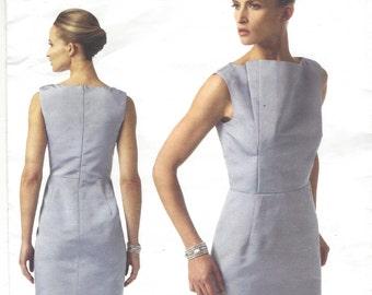 Pamella Roland Womens Dress Bateau Neckline OOP Vogue Sewing Pattern V1340  Size 8 10 12 14 16 Bust 31 1 2 to 38 UnCut 13cfcb10d