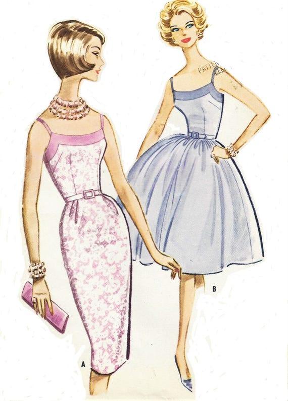 1960er Jahre Womens Bombe Kleid wackeln oder Rockabilly Rock | Etsy