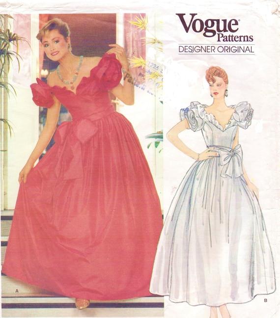 40s Bellville Sassoon Womens Ballgown Wedding Dress Vogue Etsy Cool Ball Gown Patterns