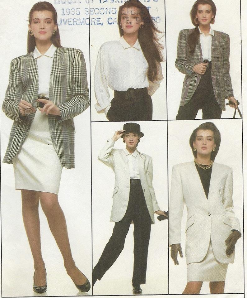 e32ad1239 1980s Jones New York Womens Below Hip Jacket Blouse Pants