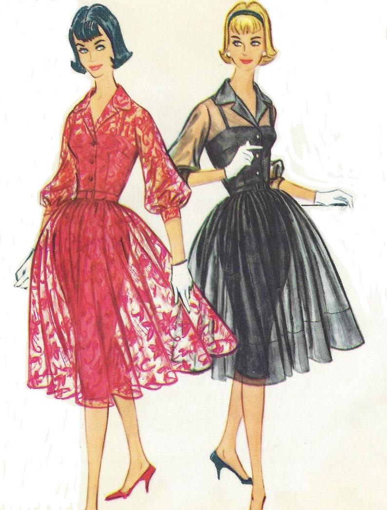 2421993eff5 1950s Womens Rockabilly Dress with Slim Slip McCalls Sewing