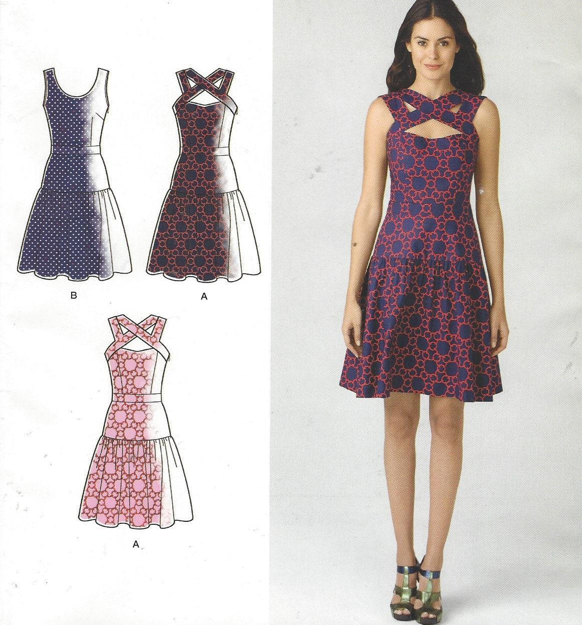 Cynthia Rowley Sewing Patterns: Cynthia Rowley Womens Dress With Bodice Variations
