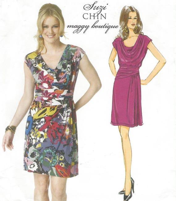 OOP Butterick Sewing Pattern B5749 Suzi Chin Womens Knit Dress   Etsy