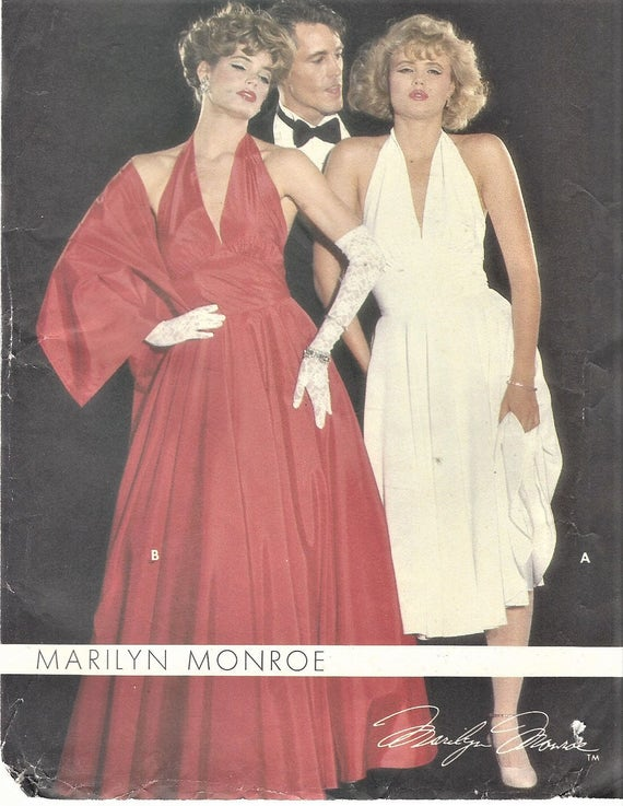 1980s Marilyn Monroe Womens Evening Gown Halter Style 2   Etsy