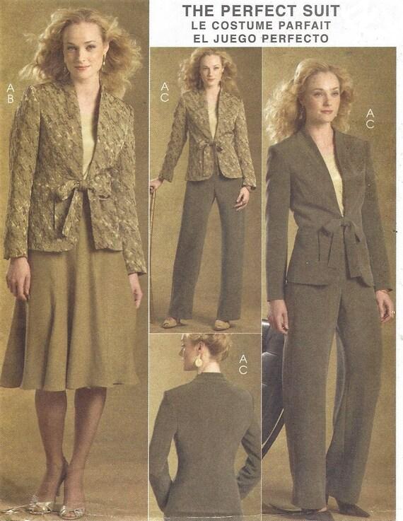 f8a6dae6e60 Palmer Pletsch Womens 3 Piece Retro Suit Lined Jacket Skirt