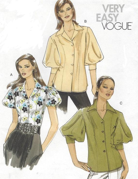 OOP Vogue Nähen Muster V8557 Womens Set Blusen mit Ärmel und | Etsy