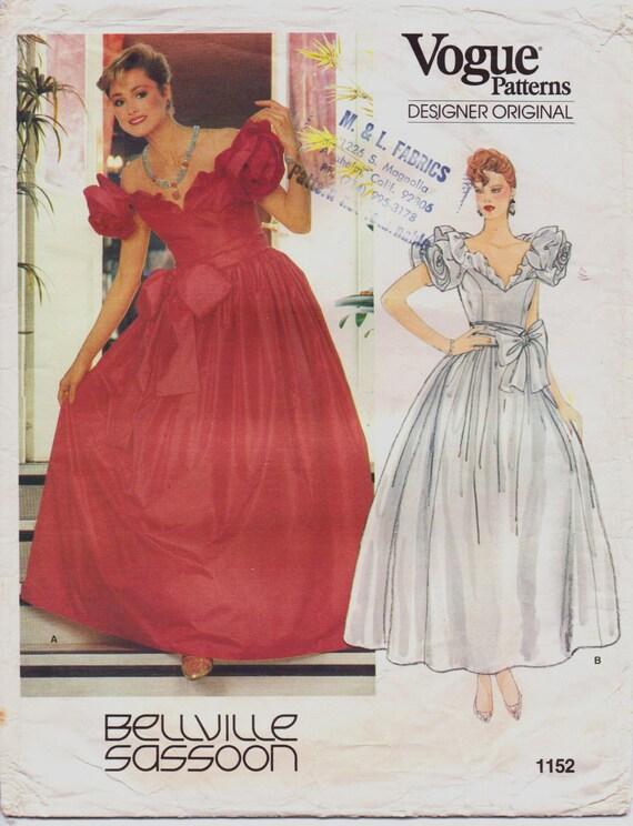 80er Jahre Bellville Sassoon Frauen Ballkleid Hochzeit Kleid | Etsy