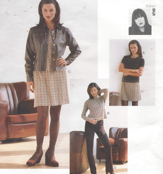 90er Jahre Ann Sui Womens Hip Länge Hemd Pullover Top Rock   Etsy