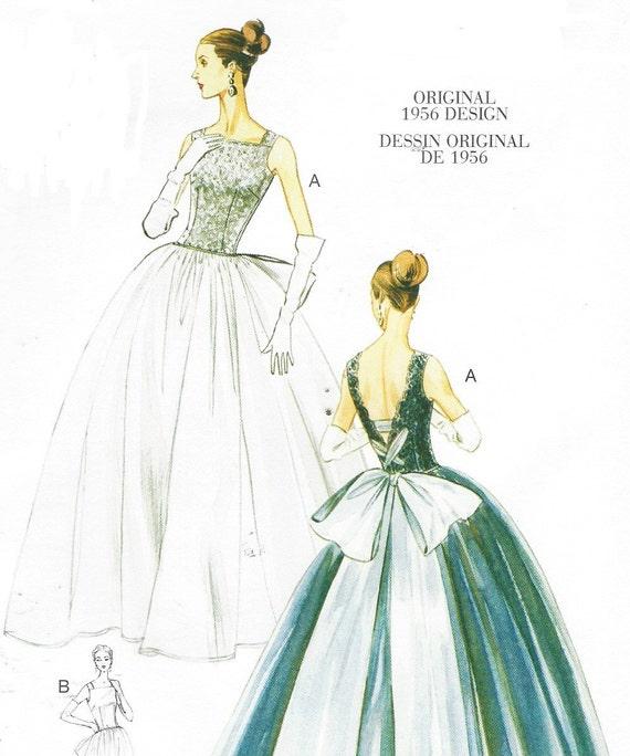 Original 1956 Design Womens Ballkleid & Unterrock Vogue Nähen | Etsy