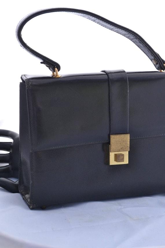 Vintage Black Handbag or Purse Marchioness Made in