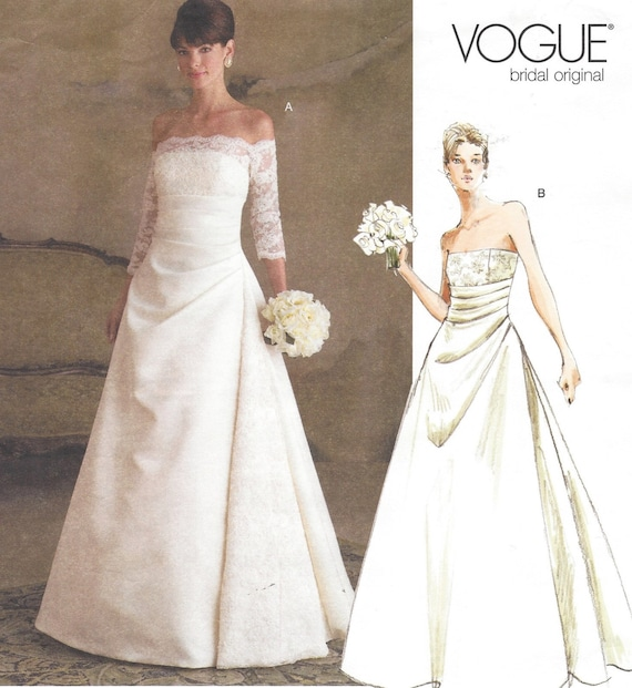 Used Plus Size Wedding Dresses: Plus Size Womens Strapless Wedding Dress Vogue Sewing