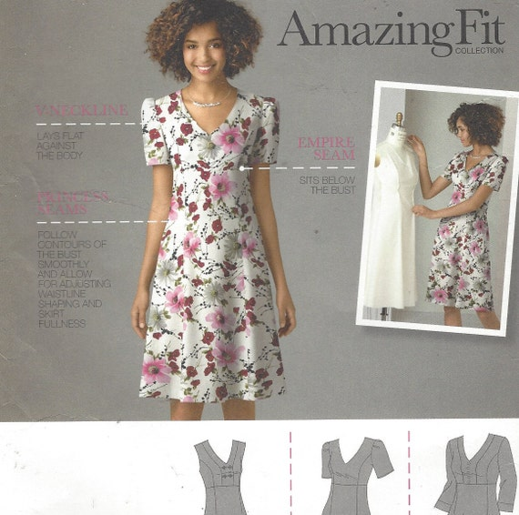 Plus Size Womens Dress Empire Waist Princess Seams Simplicity Sewing  Pattern 2247 Size 20 22 24 26 28 Bust 42 to 50 FF Amazing Fit Pattern