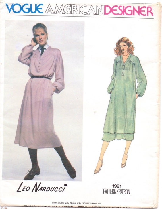 1970s Leo Narducci Boho Dress or Tunic & Skirt Vogue Sewing | Etsy