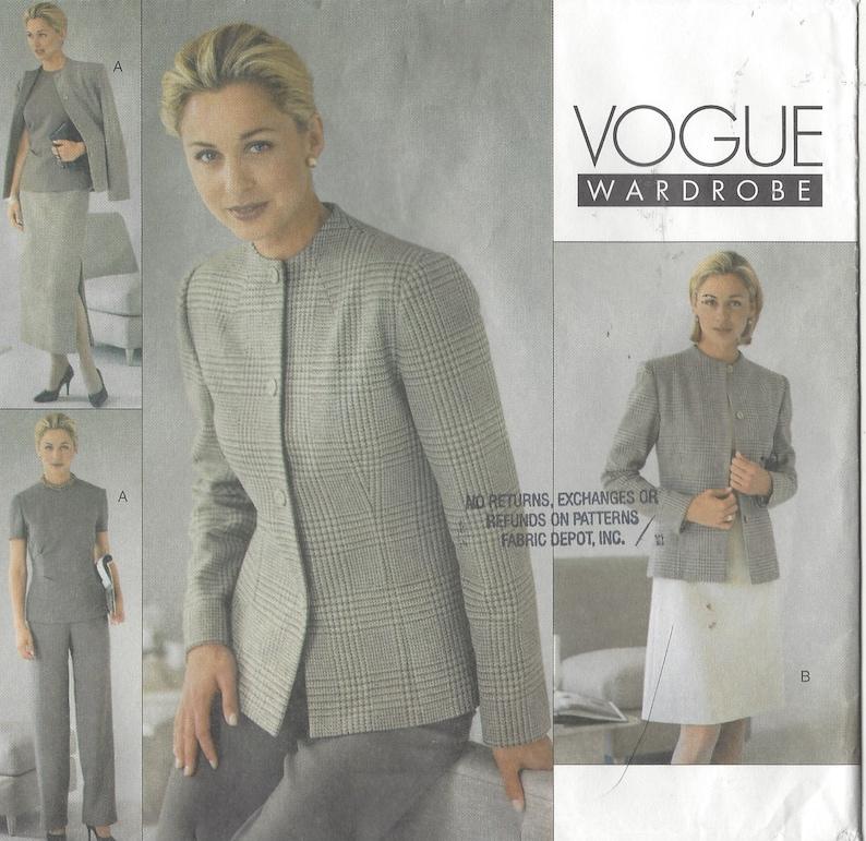 d3223b9325 Womens Jacket Dress Top Skirt and Pants Vogue Sewing