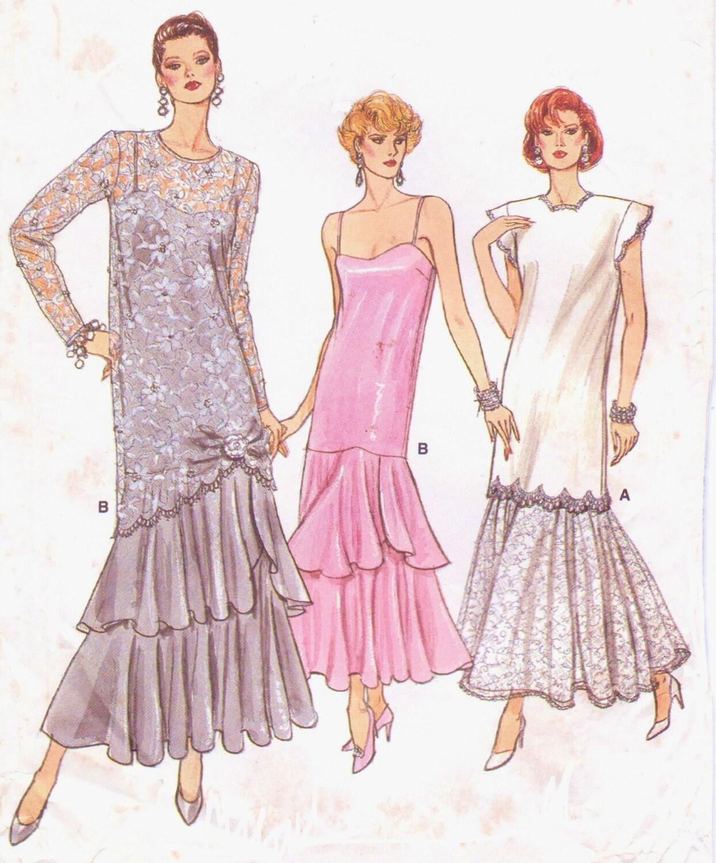 de los años 80 para mujer Gatsby estilo túnica de noche o boda y ...