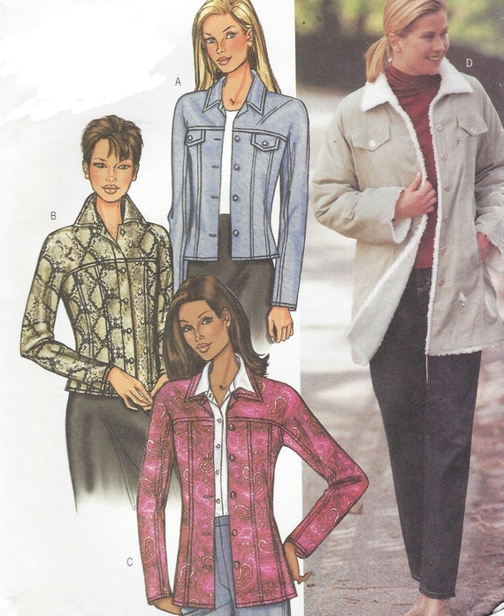 OOP Butt Nähen Muster 3595 Womens Jeans Jacke in 3 Längen | Etsy