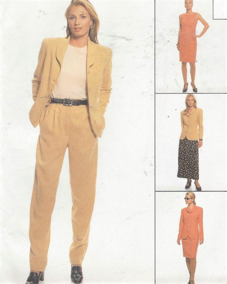 90s Plus Size Womens Lined Jacket Shift Dress Pants & Skirt | Etsy