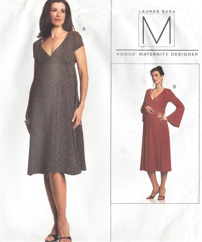 a7fa0161d5b Lauren Sara Womens Maternity Dress Empire Waist Wrap Dress 2