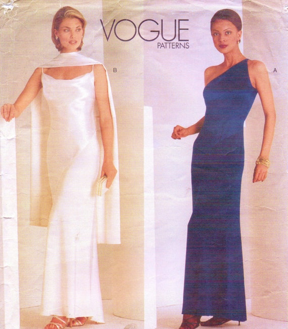 Tom und Linda Platt Frauen Abend Slip Kleid Vogue Nähen Muster | Etsy
