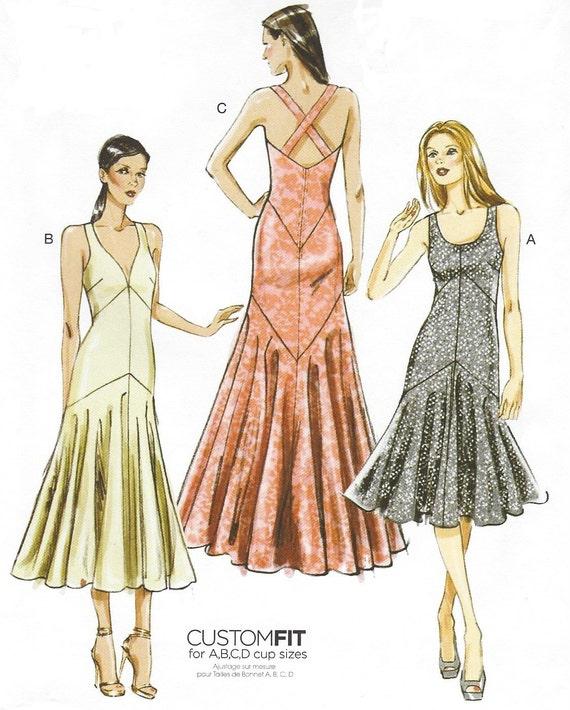 Damen Abendkleid oder Cocktail-Kleid Vogue Nähen Muster V8814 | Etsy