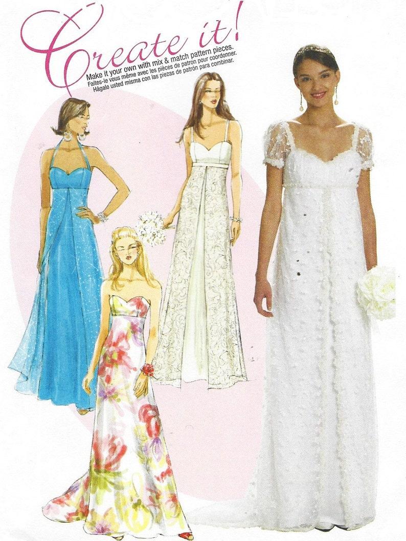 Womens Empire Waist Wedding Gown McCalls Pattern M6030 Size 16  e41042bf00