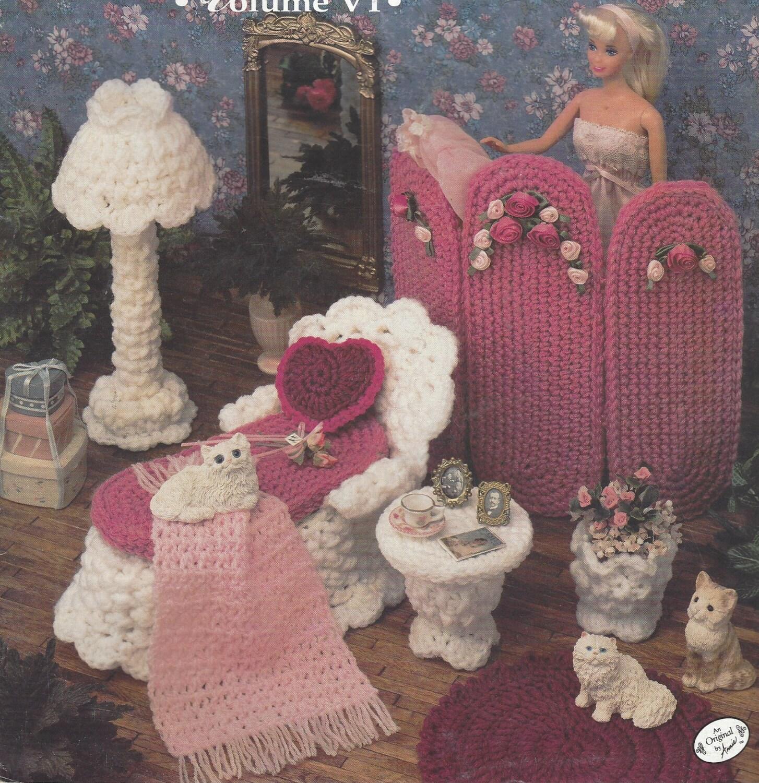 90er Jahre viktorianischen Boudoir häkeln Puppenmöbel für