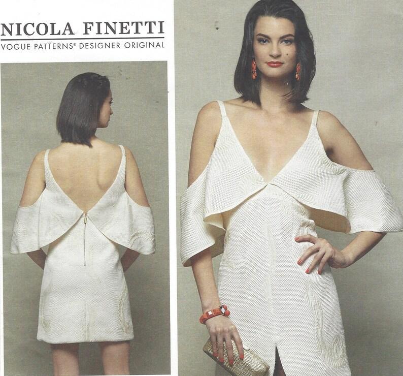 a5db2fccd5f Nicola Finetti Womens Sexy Cocktail Dress Cold Shoulder Mini   Etsy