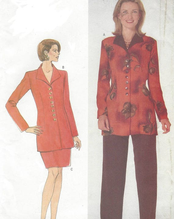 90s Womens Button Front Tunic, Pencil Skirt & Pants ...
