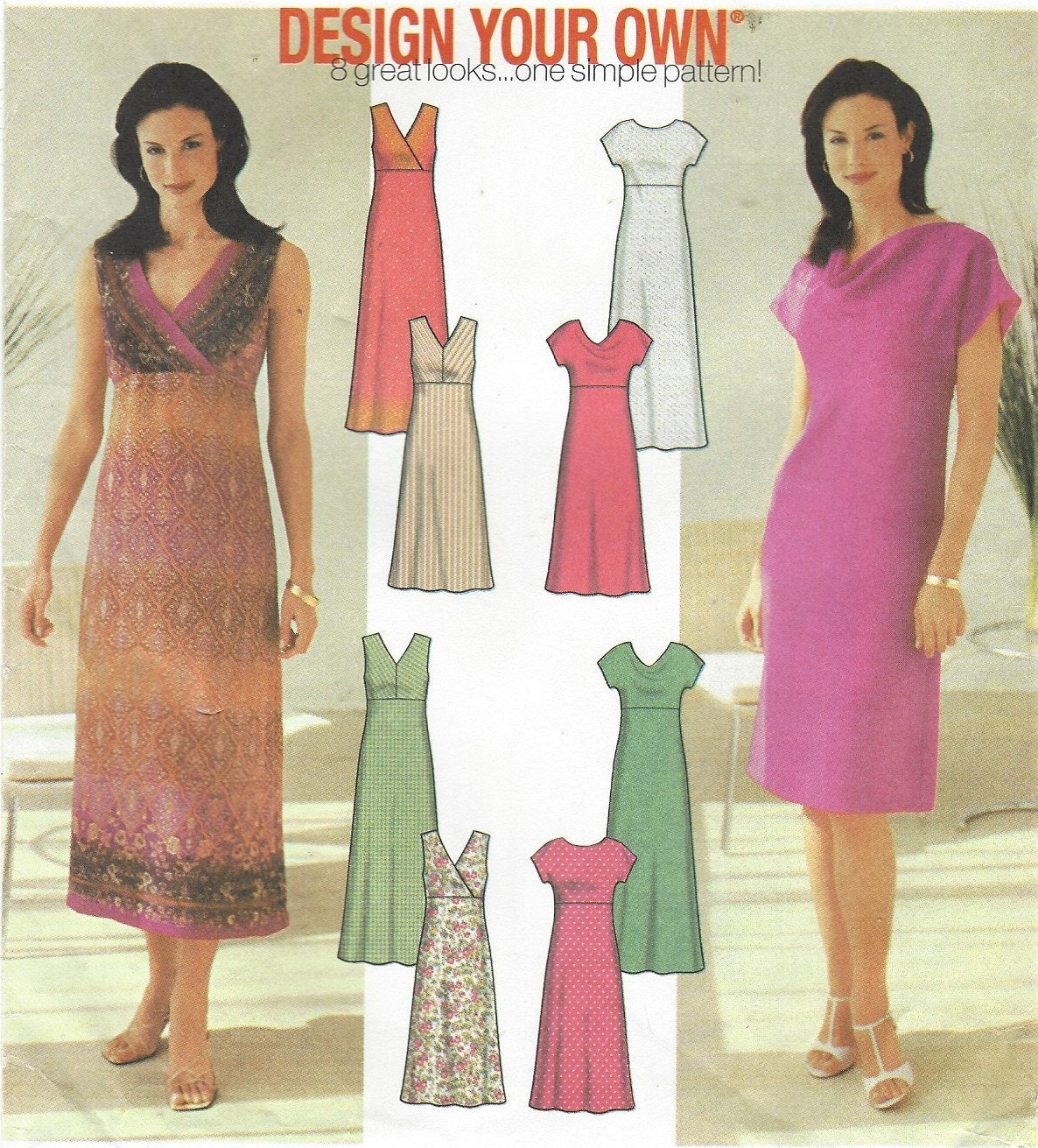 Make Your Own Dress Design: Womens Design Your Own Dress With Bodice And Length