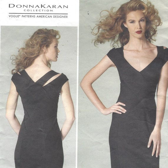 Donna Karan Womens Sexy Little Black Dress Stretch Knit Bias Etsy