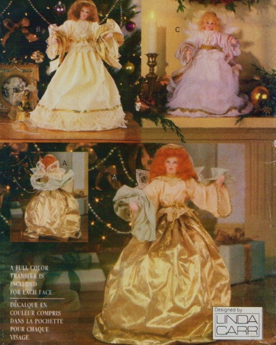Dollhouse Miniatures In Las Vegas: 90s Linda Carr Fabric Angel Dolls Or Tree Topper With Full