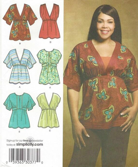 Khaliah Ali Womens Boho Knit Or Woven Tops Simplicity Sewing Etsy