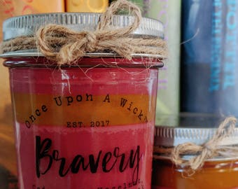 House Pride - Bravery | Gryffindor Inspired Bookish Soy Candle