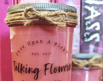Talking Flowers | Alice In Wonderland Inspired Bookish Soy Candle