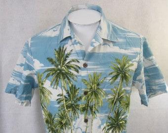 a7fee4dc BISHOP STREET Men Hawaiian ALOHA shirt pit to pit 21