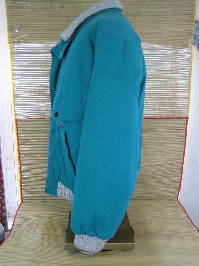 GULF COAST OUTFITTERS Maison Blanche men jacket sz M vintage 1980s 1990s Teal