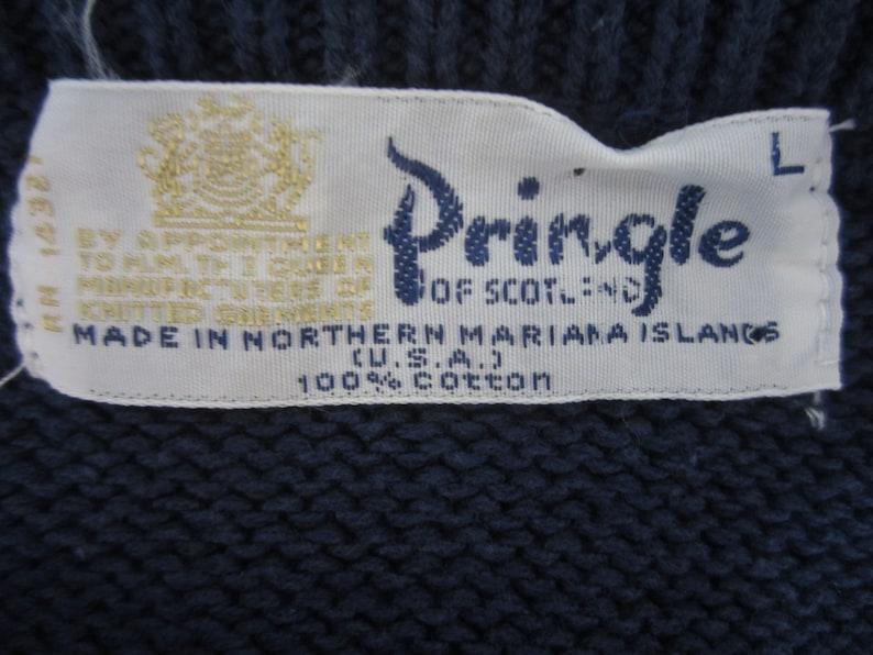 Pringle Mens Sweater vintage 1970s sailboat regatta pullover size large drop shoulder