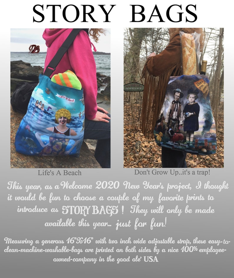 Joanne DeLomba  STORY BAGS  Don't Grow Up...it's image 0