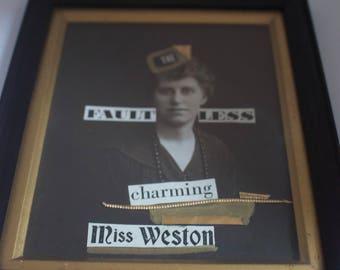 Miss Weston Awaits photomontage